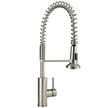 Mirabelle MIRXCPS100 Presidio Pull Down Pre Rinse Kitchen Faucet With High  Arch, Stainless Steel