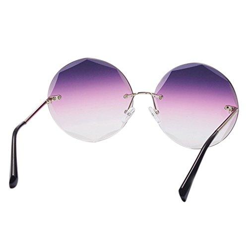 conducción montura Regalos Gafas Protección Anti playa Geometría Ciclismo de Lentes de UV retro sol metal de Marco de poligonales Hzjundasi Morado sin Accesorios 1fwZnqan