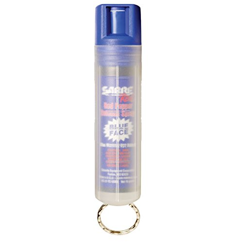 SABRE Red Pepper Spray - Police Strength - with Blue Dye & Clear Key Case by Sabre
