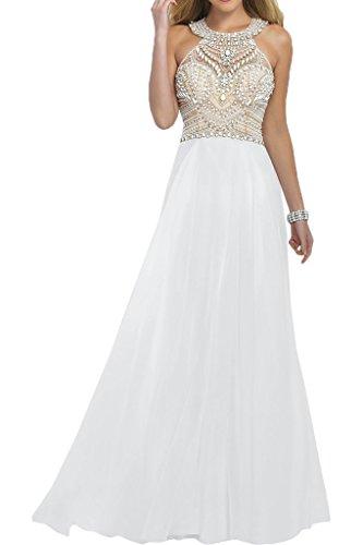 fd50215e9ffb La mia Braut Damen Rosa Luxurioes Chiffon Abendkleider Ballkleider  Partykleider Bodenlang A-linie Rock Weiß Xykfp16fQw