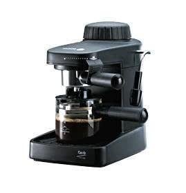 Fagor - Cafetera Espresso Cr1000, 800W, 4 Tazas, 0,2L, 5 Bar, Negra, Acc.Capucchino