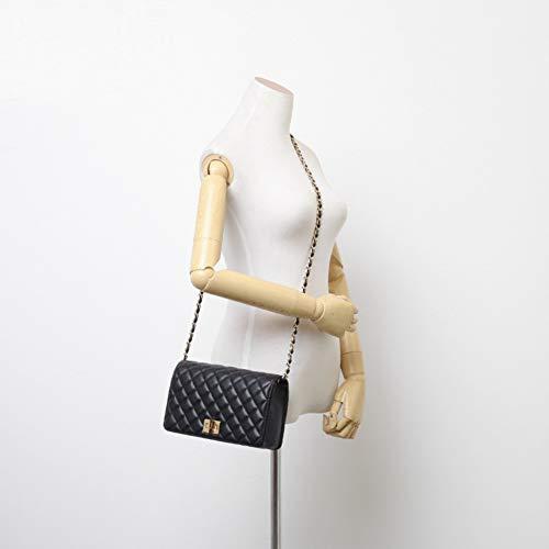 à 7x2x5inch Sac Womens épaule Sac bandoulière Messager Mode Sacs Designer à pour 19x6x12cm Unique Noir de de Noir Main xnTCvqfx