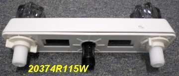 8' White Mobile Home RV Marine Shower Valve Faucet Utopia 20374115W