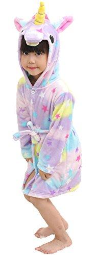BELIFECOS Unicorn Bathrobe Kids Pool Robe Beach Cover Hooded (Halloween Costume Pool Boy)
