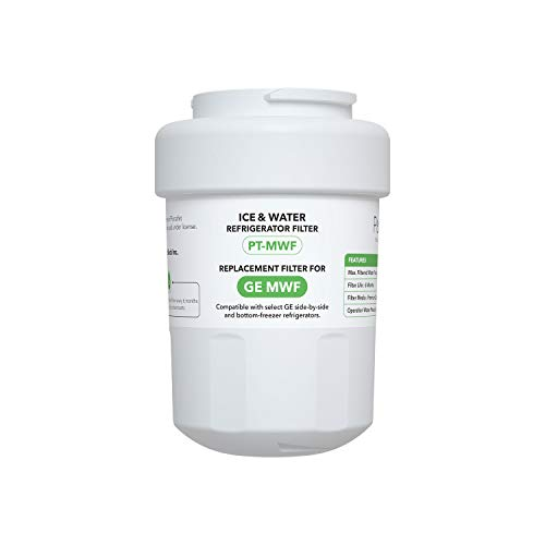MWF Refrigerator Water Filter, Pursafet Replacement Water Filter for GE SmartWater MWF, MWFINT, MWFP, MWFA, GWF, HDX FMG-1, GSE25GSHECSS, Kenmore 9991, r-9991 with NSF 53&42 Certified (1 Pack)