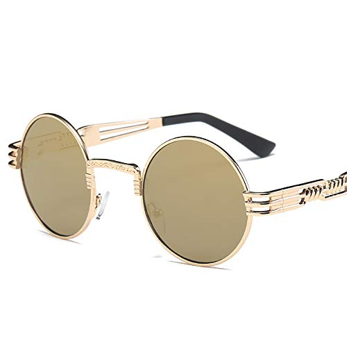 Pausseo Women Men Vintage Retro Round Frame Glasses Unisex Integrated Aviator Mirrored Lens Sunglasses Summer Sports Running Cycling Fishing Driving Hiking Radiation Protection Summer ()