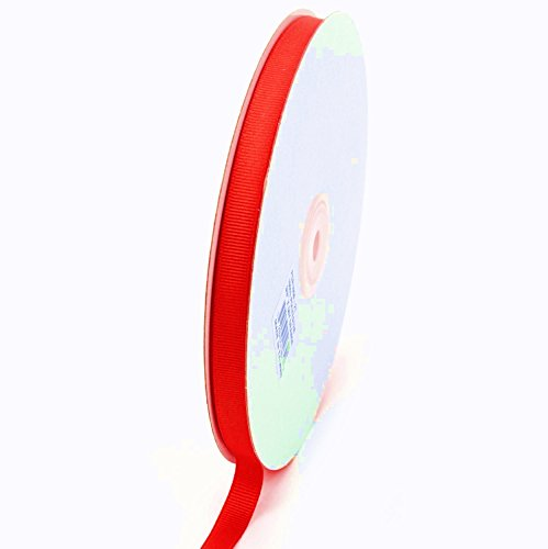 Ben Collection 3/8 Inch X 50 Yard Grosgrain Plain Ribbon Party, Wedding Favor Crafting Ribbon (Neon Coral / - Red Wedding Collection