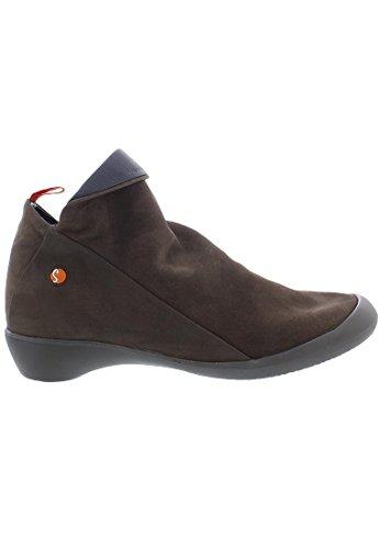 Navy Brown Boots Farah Women's Softinos Blue Nubuck Dark wqFxp0x1Yn