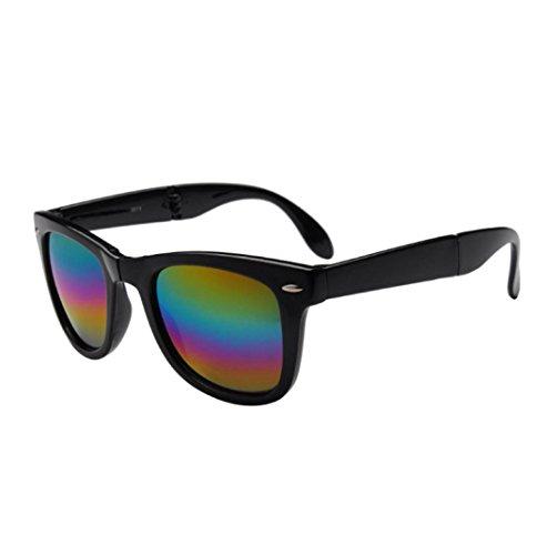 al sol up D Gafas de Vintage espejo Deportes Plaza Mujeres Hombres Fold libre aire gafas Color Gafas Winwintom de pHwxOYqCU