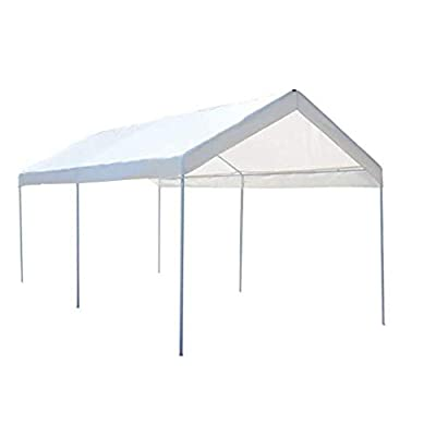 Canopy Shelter 10 x 20 Steel Frame Portable Car : Garden & Outdoor