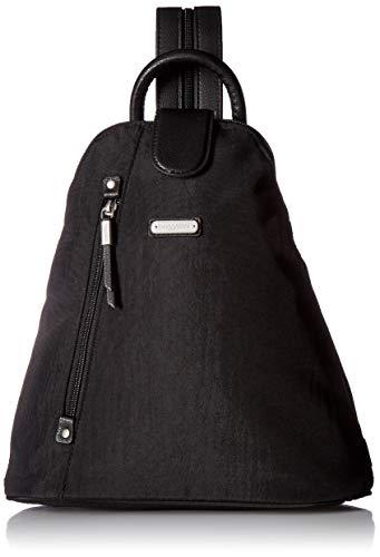 Baggallini Metro Backpack with RFID Wristlet, black