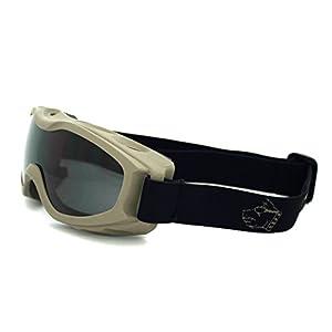 Guard-Dogs Goggles, Evader 2 Earth Smoke w/ FogStopper