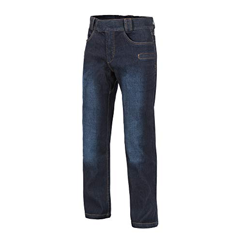 Helikon-Tex GTP Greyman Tactical Pants, Urban Line Dark Blue Denim Mid Waist 34 Length 34