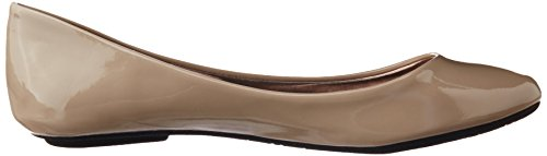 Steve Madden Womens P-heaven Flat Taupe Patent