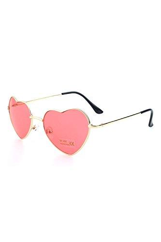 Forma Moda Rojo De Gradiente De Gafas Las Precioso De De Color Gafas Mujeres En Corazon Sol ZqHE8EfAw