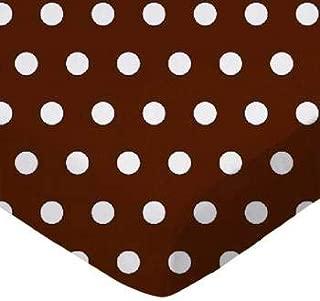 product image for SheetWorld FLAT Crib / Toddler Sheet - Polka Dots Brown - Made In USA