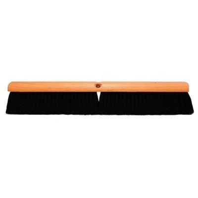 No. 10 Line Floor Brushes - 24'' black tampico floorbrush without han