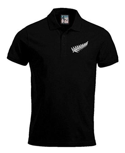 Retro Nueva Zelanda NACIONAL POLO RUGBY Logotipo Bordado (Negro ...