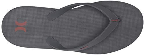 - Hurley Men's One & Only Flip Flop Sandal, Dark Grey/firewood Orange-FIREWO, 12 M US