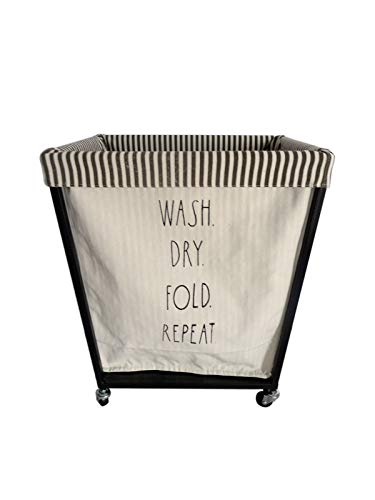 (Rae Dunn Heavy Duty Laundry Hamper on Wheels - by Designstyles)