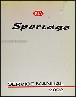 2002 kia sportage repair shop manual original kia amazon com books rh amazon com 2002 kia spectra repair manual 2002 kia sportage owners manual