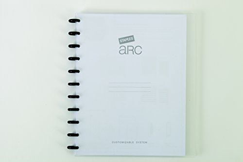 Staples Arc Customizable Durable Poly Notebook System, Clear, 9 3/8