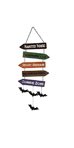 Sunset Vista Designs 14838 Haunted House Hanging Sign, Directional]()