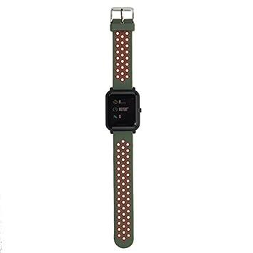 Tabcover para Xiaomi Amazfit Correa,20mm Correa de Repuesto Deportiva de Silicona Suave Correa for Xiaomi Huami Amazfit Bip Younth Smart Watch: Amazon.es: ...