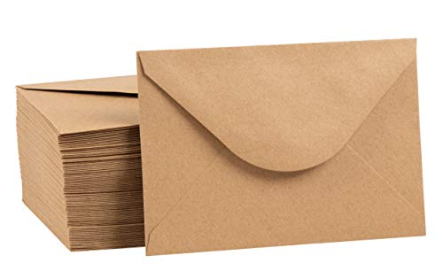 Juvale 100 Pack Brown Kraft Grocery Bag Paper A4 Envelopes for 4 x 6 Greeting Cards and Invitation Announcements - Value Pack Envelopes - 4.2 x 6.2 Inches - 100 Count