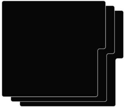 Vertical Black Record Dividers Professional Partition Index Style Cards 12