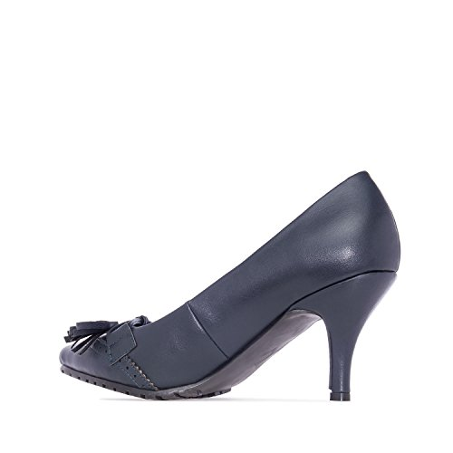 5c358577ef1 hot sale 2017 Andres Machado.AM5106.Tassle Pumps in Navy faux Leather.Small
