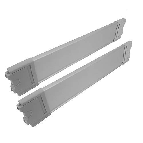 SHOW-WF Drawer Dividers, Aluminum Alloy Drawer Separators, Deep Drawer Organiser System for Kitchen Bathroom Bedroom Office and Dresser Desk,2Pack,46.2cm