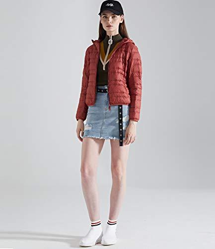 Outwear Down Down Women's Ultra Puffer Warm Rust Jacket Medeshe Light Hoodie Coats X6Owxw07
