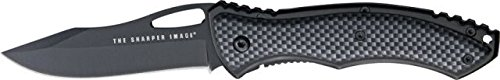 Sharper-Image-Thrust-Fold-Knife-440C-stainless-PVD-black-coated-modified-clip-poin-black-TSI-K2