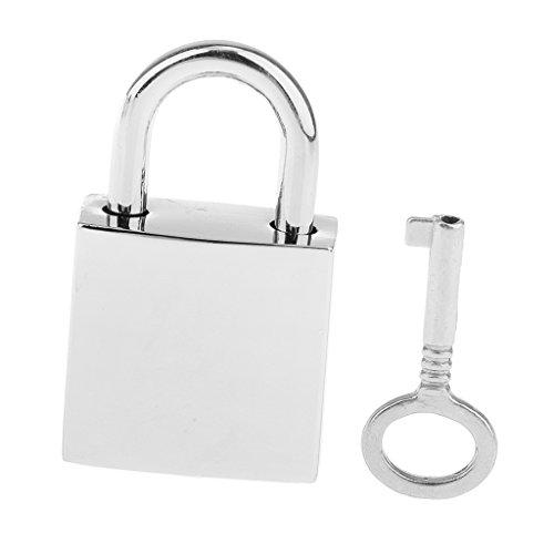 Silver Padlock - MagiDeal 1 X Mini Metal Tiny Luggage/Suitcase Craft Box Locks Padlock /w Keys Silver