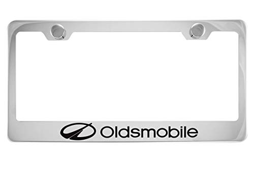 Oldsmobile Chrome License Plate Frame with Caps