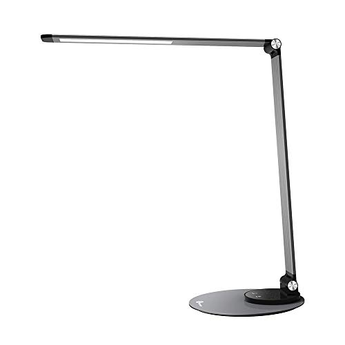 TaoTronics Aluminum Alloy Dimmable LED Desk Lamp with USB Charging Port, Table Lamp for Office Lighting(Renewed)