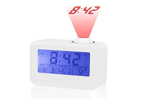 feifuns Voice Control,Protable Clock-Projection...