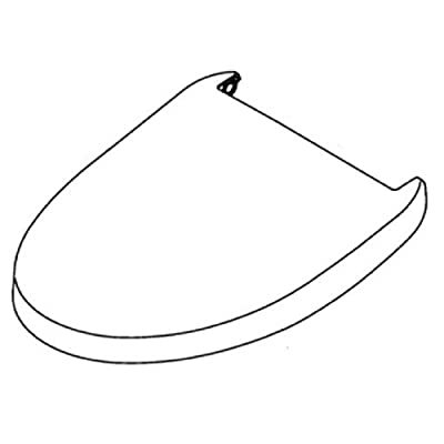 Toto THU9412#01 Elongated Replacement Washlet Seat Lid for S350E, Cotton White