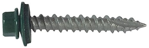 250-sheet-metal-roofing-screws-10-ivy-green-forest-green-1-1-2-hex-washer-head-metal-roof-screw-self