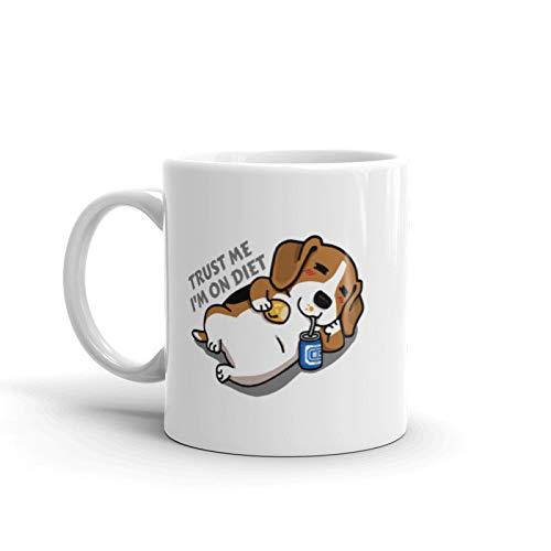 Trust Me I'm On Diet Beagle Dog Mug. Coffee Mug, Gift For Dog Mom, Gift For Dog Dad, Gift For Beagle Lover, Funny Beagle Mug, Beagle Art (Best Diet For Beagles)