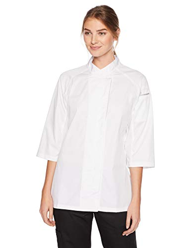 - Chef Works Women's Verona V-Series Chef Coat, White, Large
