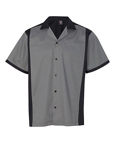 hilton-hp2243-mens-cruiser-bowling-shirt-steel-large