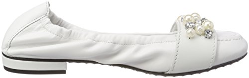 Kennel und Closed Weiß 417 Schmenger White Flats Pearl Women's Toe Malu Ballet xCpwxO