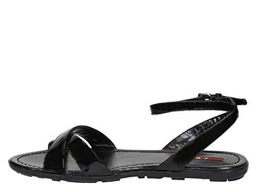 Modelo O6e En Charol De Sandalias Negro 3x5845 Sport Número Prada F0002 Planas vtqw8UR