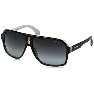 Carrera Men's Ca1001s Aviator Sunglasses, Black White/Dark Gray Gradient, 62 mm