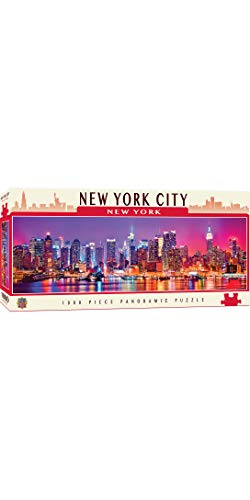 MasterPieces Cityscapes Panoramic Jigsaw Puzzle, Downtown New York City, Dr. Toy's 100 Best Winner, 1000 Pieces (City Christmas Activities York New)