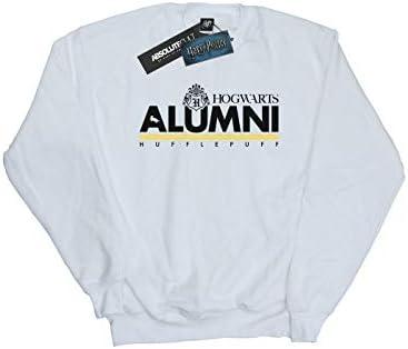 Harry Potter Herren Hogwarts Alumni Hufflepuff Sweatshirt Weiß Small