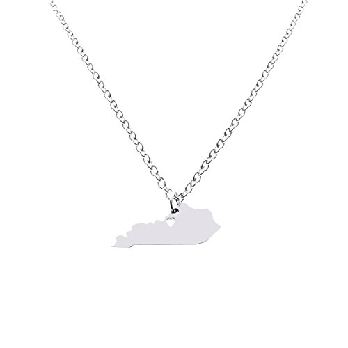 Kentucky State Necklace Pendant Country Map KY Pendant Charm Jewelry Gift for Women Teens