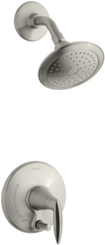 KOHLER K-T45108-4-BN Alteo Shower Trim with Push-Button Diverter, Valve Not Included, Vibrant Brushed Nickel